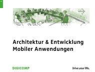 Architektur & Entwicklung Mobiler Anwendungen - Digicomp