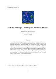 EUDET-Report-2007-01