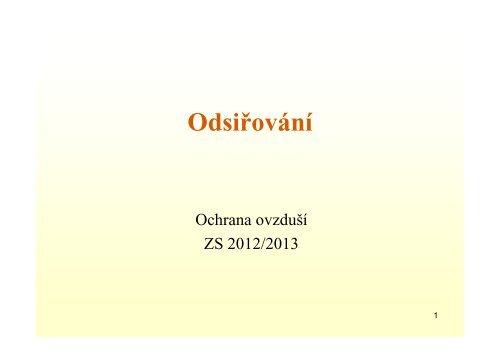 Přednáška odsiřování 2012-13