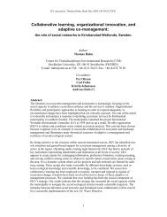 Collaborative learning, organizational innovation, and ... - UNEP