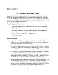 SFA Scholarship and Teaching Grants - Miami University School of ...