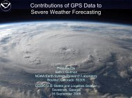 Contributions of GPS Data to Severe Weather Forecasting - GPS.gov