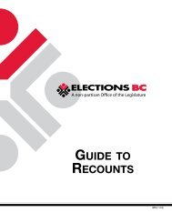 GUIDE TO RECOUNTS - Elections BC