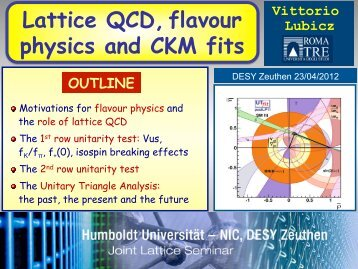 V - Lattice Seminar - Desy