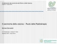 La radioterapia. Relatore: Dr. Michele Benedetti - Oncologia Rimini