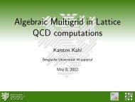 Algebraic Multigrid in Lattice QCD computations - Lattice Seminar