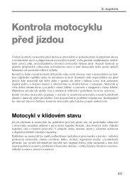 Ukázková kapitola 2 - Kontrola motocyklu před jízdou