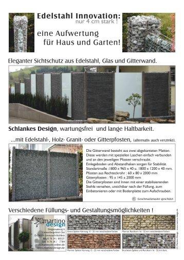 Kower DIN Lang - MARTINO DESIGN - Sichtschutz, Edelstahl ...