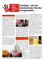 Flugblatt gegen Fracking - Alternative Kommunalpolitik