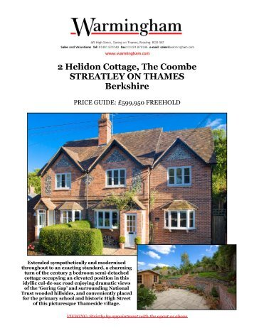 2 Helidon Cottage, The Coombe STREATLEY ON ... - Warmingham