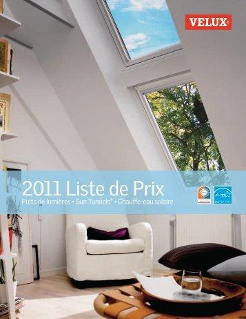 2011 Liste de Prix - Velux