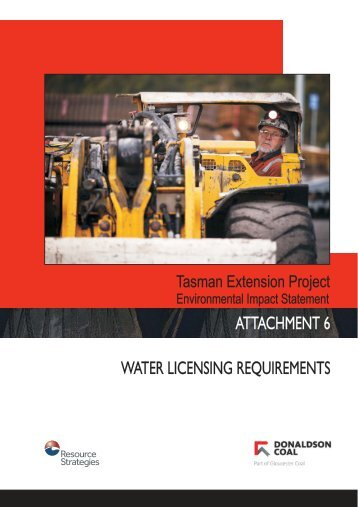 ATTACHMENT 6 WATER LICENSING REQUIREMENTS