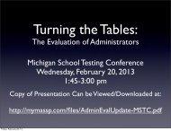 Presentation - Michigan Institute for Educational Management