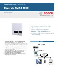 Centrale AMAX 4000 - Bosch Security Systems