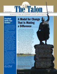 The Talon Vol. 2 Issue 1 - Spring 2007 - Coppin State University ...