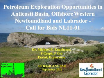 Call for Bids NL11-01 - Department of Natural Resources ...