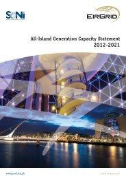 All-Island Generation Capacity Statement 2012-2021 - Eirgrid