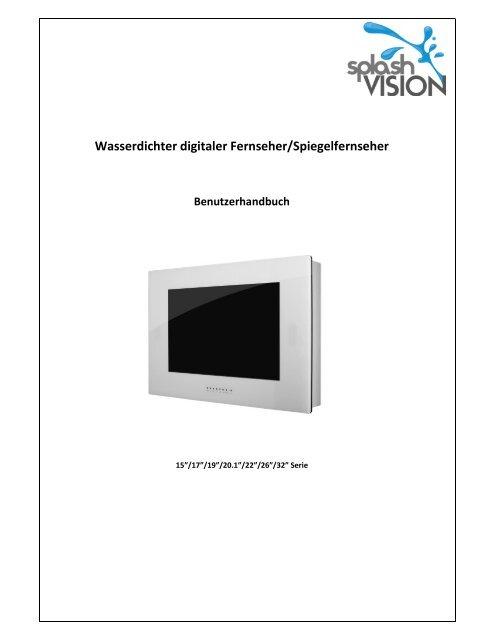Wasserdichter digitaler Fernseher/Spiegelfernseher ...