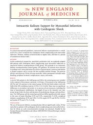 Intraaortic Balloon Support for Myocardial Infarction with ...