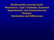 Relationships among Insulin Resistance, Type 2 Diabetes ... - Aveso