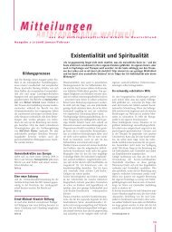 Existentialität und Spiritualität - Anthroposophische Gesellschaft in ...