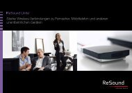 Starke Wireless-Verbindungen zu Fernseher ... - GN ReSound