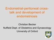 Endometrial-peritoneal cross- talk and development of ... - eshre