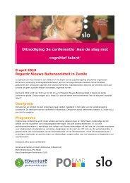 Uitnodiging 3e conferentie 'Aan de slag met cognitief talent'