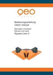 Bedienungsanleitung - geo-FENNEL GmbH