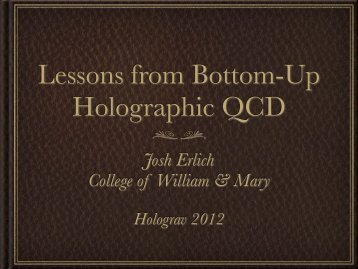 Lessons from Bottom-Up Holographic QCD