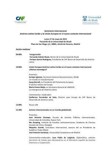 Seminario Internacional América Latina-Caribe y la Unión ... - ielat