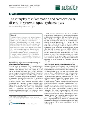 The interplay of inflammation and cardiovascular disease in ...