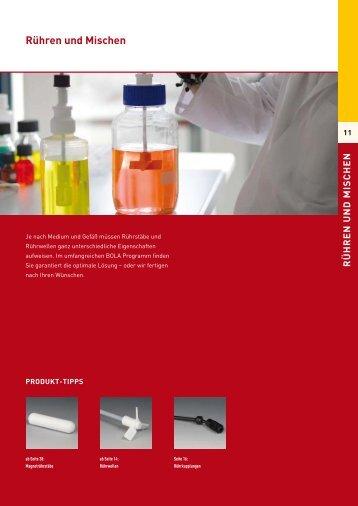 Rühren und Mischen - Laboratoriumglas