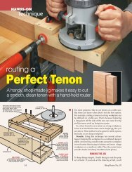 Routing a Perfect Tenon - Woodsmith Woodworking Seminars