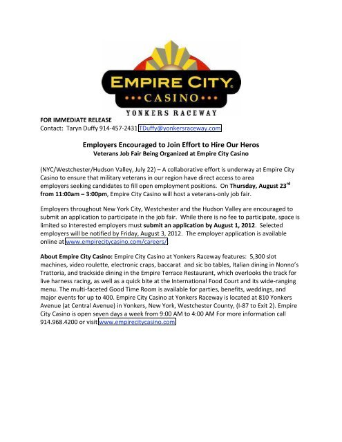 Empire city casino online gambling
