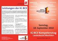 IG BCE Kompetenztag - Ortsgruppe Gladbeck-Mitte