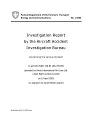 Investigation Report by the Aircraft Accident Investigation Bureau