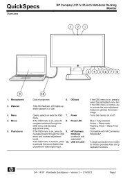 HP Compaq L2311c 23-inch Notebook Docking Monitor