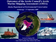 Outcomes of the Arctic Council's Arctic Marine Shipping - Climate ...
