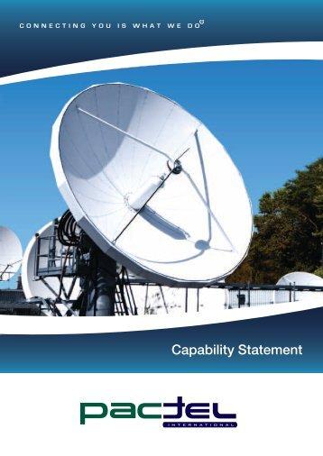 Capability Statement - Pactel International