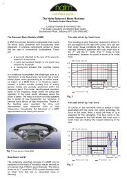 The Naim Balanced Mode Radiator - Naim Audio