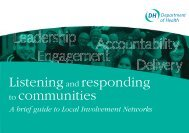 Listening and responding to communities - Dignity in Care network