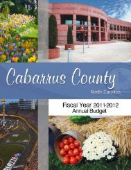 Fiscal Year 2011 - 2012 Budget - Cabarrus County