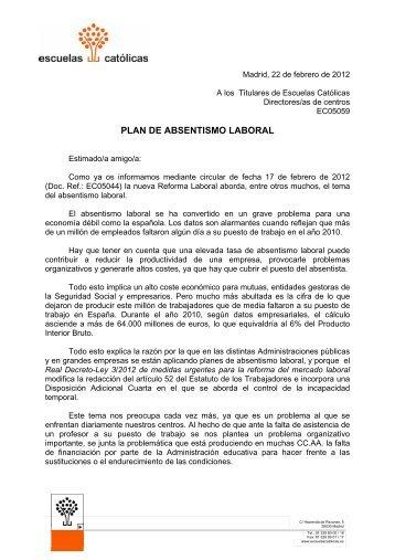 PLAN DE ABSENTISMO LABORAL