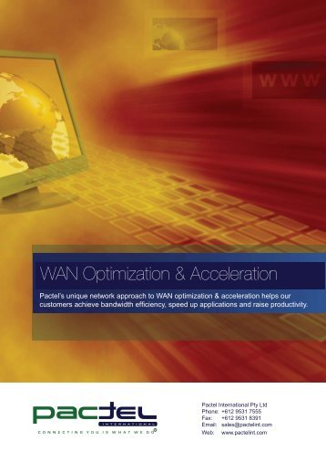 WAN Optimisation.indd - Pactel International
