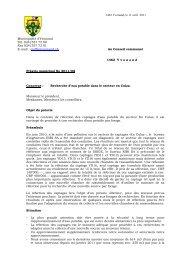 Préavis 2011-08 Recherche eau potable - Yvonand