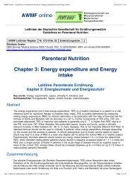 AWMF online - Guidelines on Parenteral Nutrition ... - ferronfred.eu