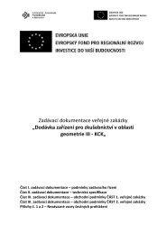 Zadávací dokumentace veřejné zakázky ... - kraj bez korupce