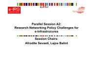 Parallel Session A2: Research Networking Policy ... - e-IRG
