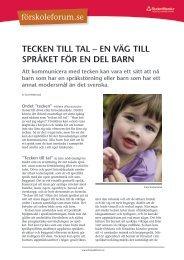 Tecken Till Tal – en väg Till språkeT för en del barn